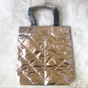 Victoria's Secret Rose Gold Tote Quilted